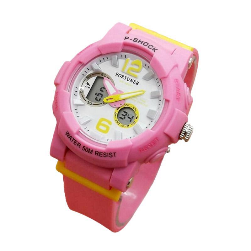 Fortuner J908AD Dualtime Jam Tangan Wanita - Pink