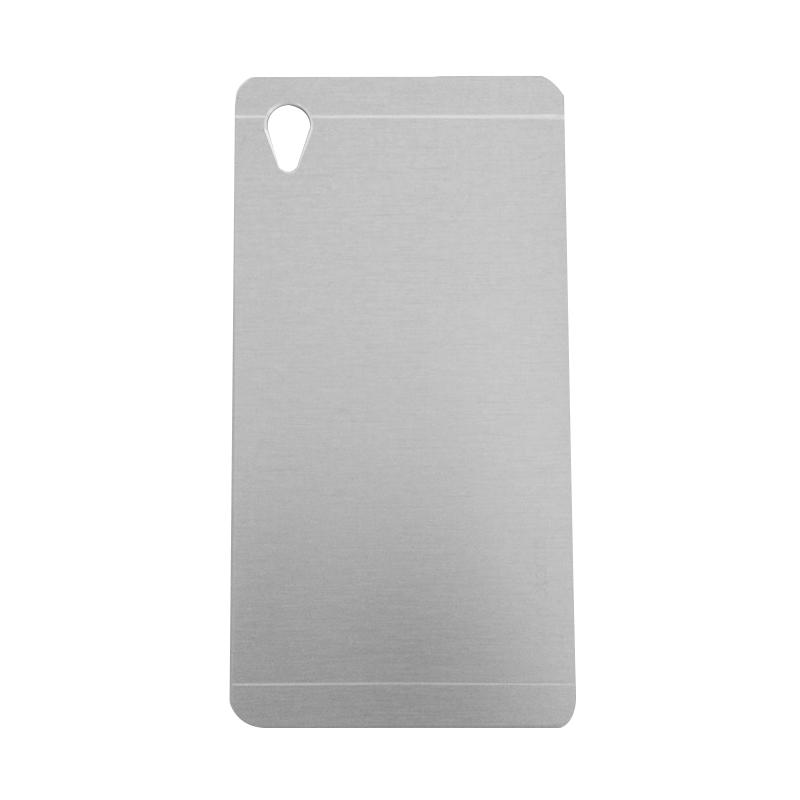 Motomo Metal Hardcase Backcase Casing for Sony Xperia M4 - Silver