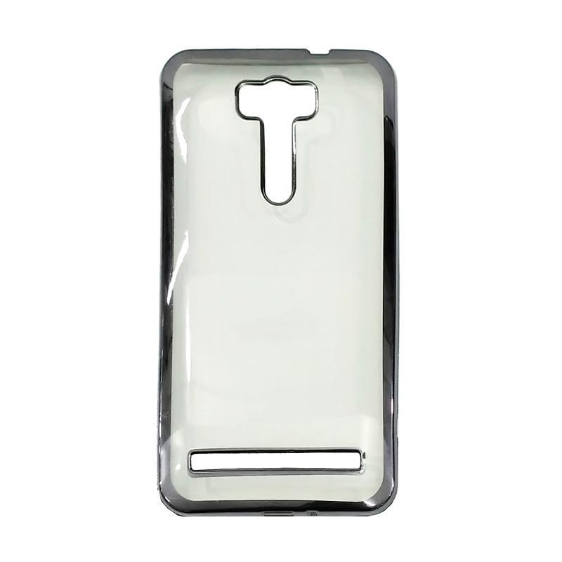 OEM Case Shining Chrome Softcase Casing for Asus Zenfone 3 Laser ZC551KL 5.5 Inch - Black