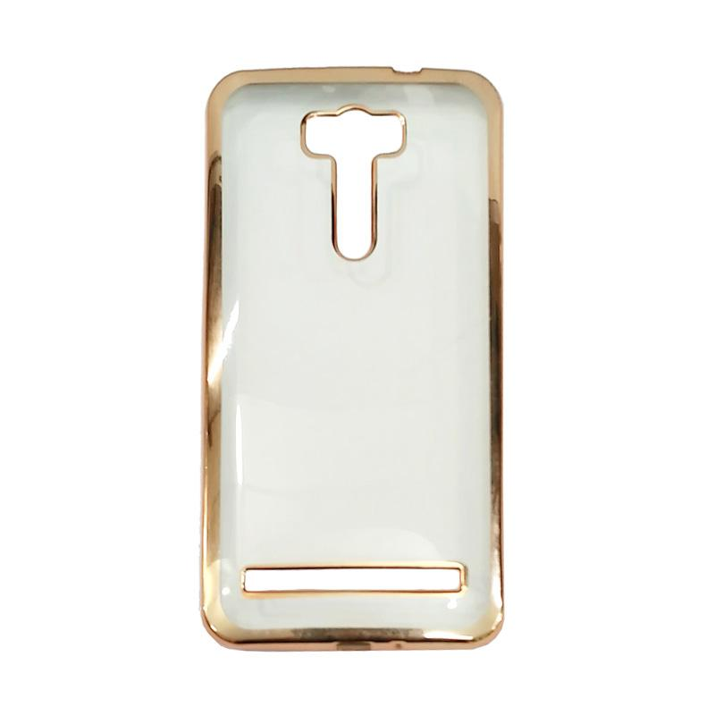 OEM Case Shining Chrome Softcase Casing for Asus Zenfone 3 Laser ZC551KL 5.5 Inch - Gold