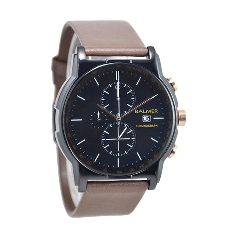 Balmer Chronograph D46H580BL7931MCKTHG Date Leather Strap Jam Tangan Pria