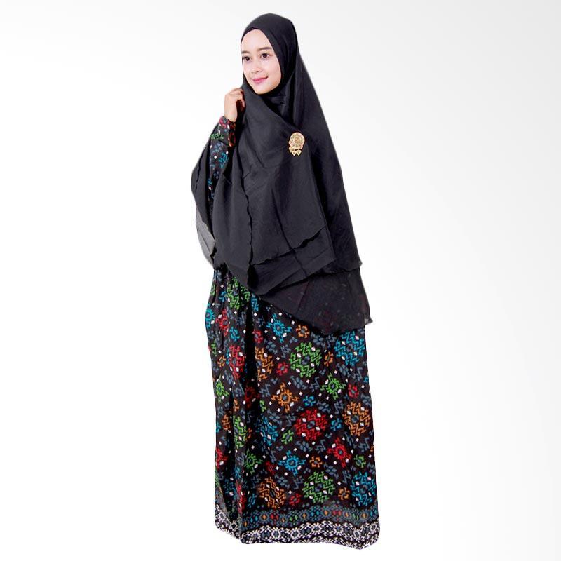 Batik Putri Ayu Solo Batik Syari GH2 Gamis - Hitam