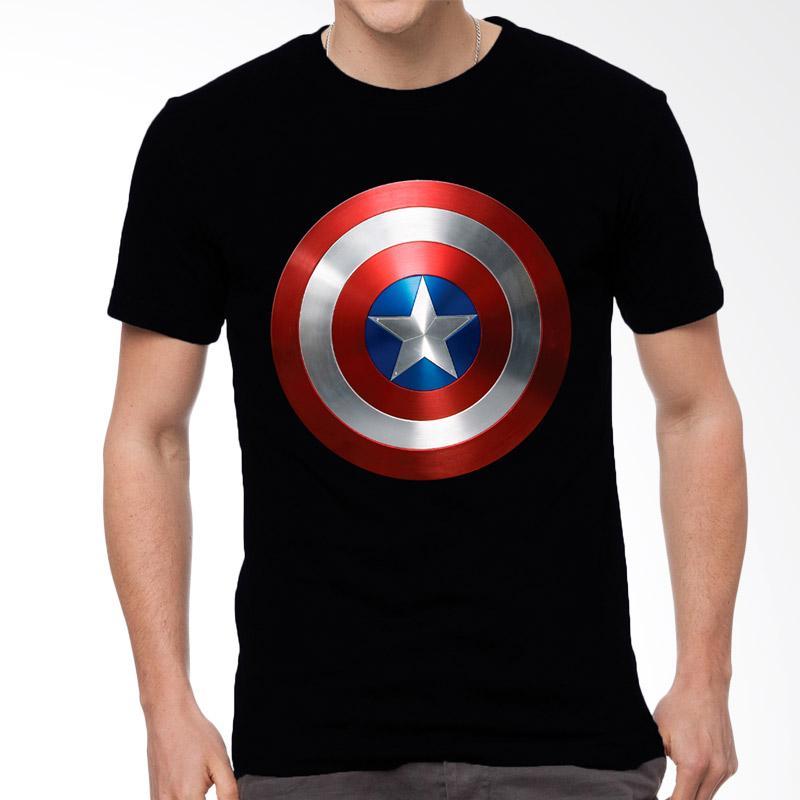 Fantasia Captain America Justice Protector T-Shirt Pria - Hitam Extra diskon 7% setiap hari Extra diskon 5% setiap hari Citibank – lebih hemat 10%