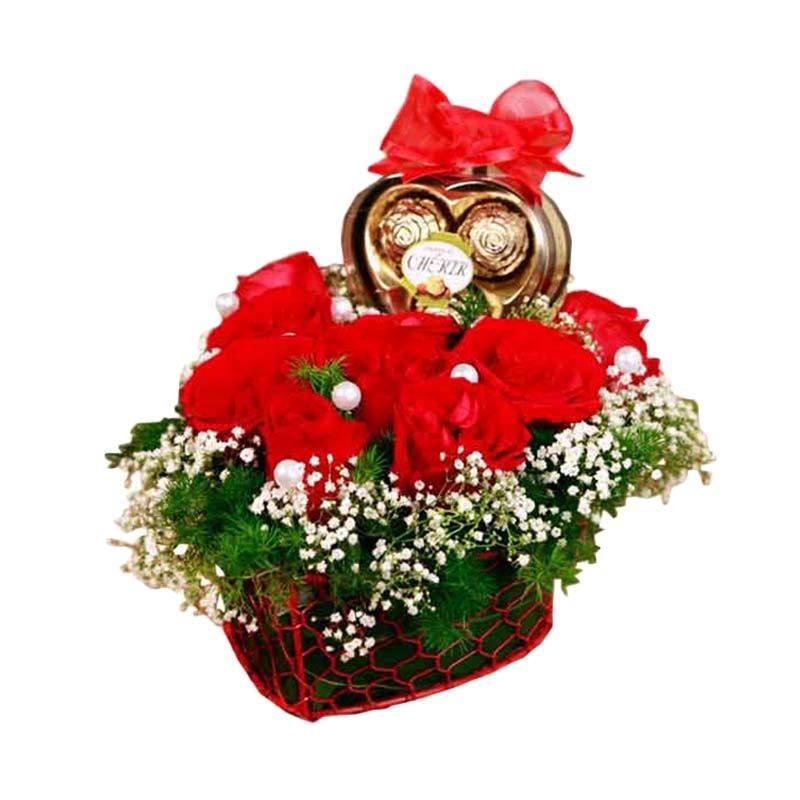 Flower Advisor Heart Shape in the Box Bunga Artifisial