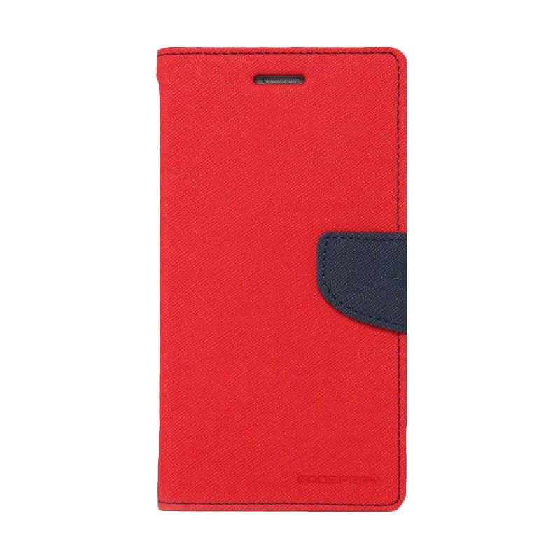 Mercury Fancy Diary Casing for Samsung Galaxy Note 7 N930 - Merah Biru Laut