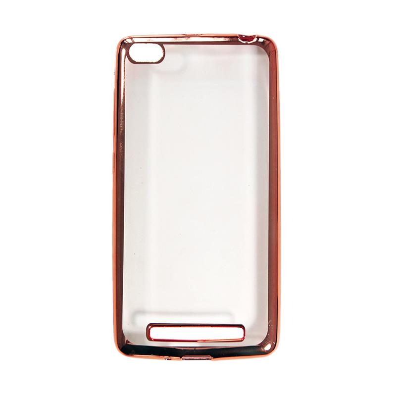 OEM Shining Chrome Softcase Casing for Huawei Honor 4C 5 Inch - Rose Gold
