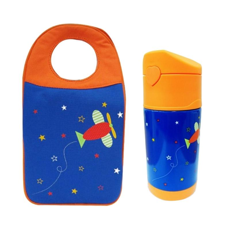 Arvita Lunch Bag Airplane + Arvita Thermos Bottle Water Airplane