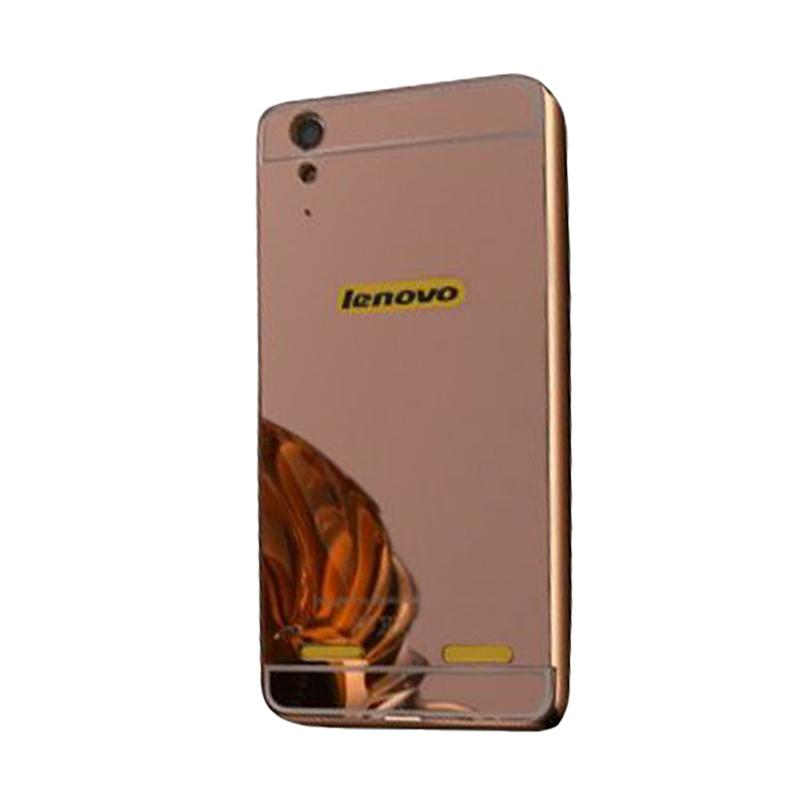 Bumper Mirror Sliding Casing for Lenovo K5 Plus - Rose Gold