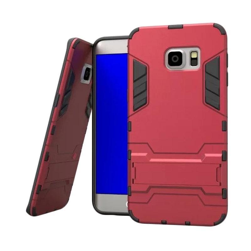 OEM Transformer Robot Iron Man Casing for Samsung Galaxy S6 - Merah