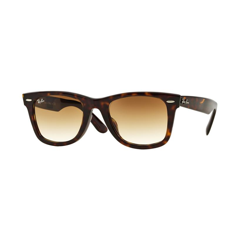 Ray-Ban Wayfarer Rb2140F - Tortoise [902-51/Size 52/Crystal Brown Gradient]