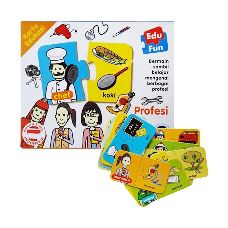 Daily Deals - Edu Fun Puzzle Kartu Edukasi Profesi Jobs Mainan Edukatif Anak