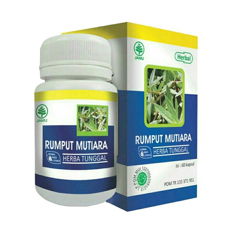 HIU Rumput Mutiara Obat Herbal untuk Radang Tenggorokan [60 Kapsul]