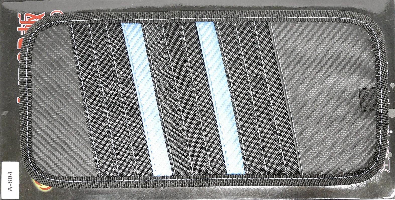 SIV A-804 Carbon CD Board Organizer and Sunvisor Mobil - Blue Black