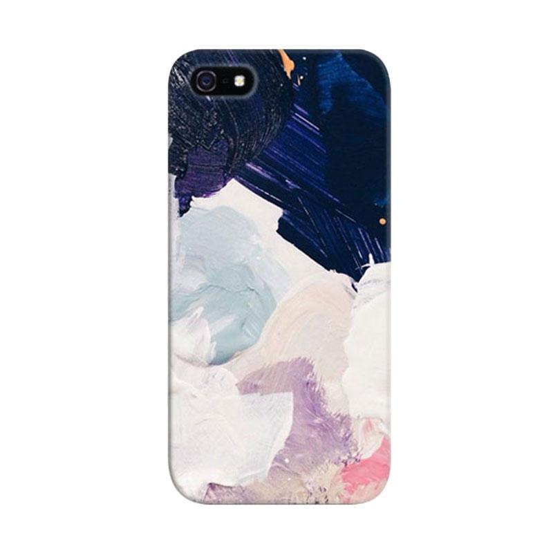 Indocustomcase Rue Color Paint Custom Hardcase Casing for Apple iPhone 5/5S/SE
