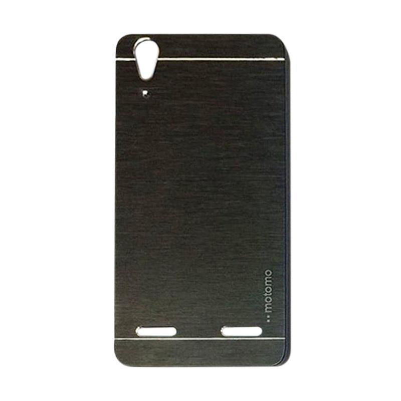Motomo Metal Hardcase Backcase Casing for Lenovo A6010 or A6010 Plus - Black
