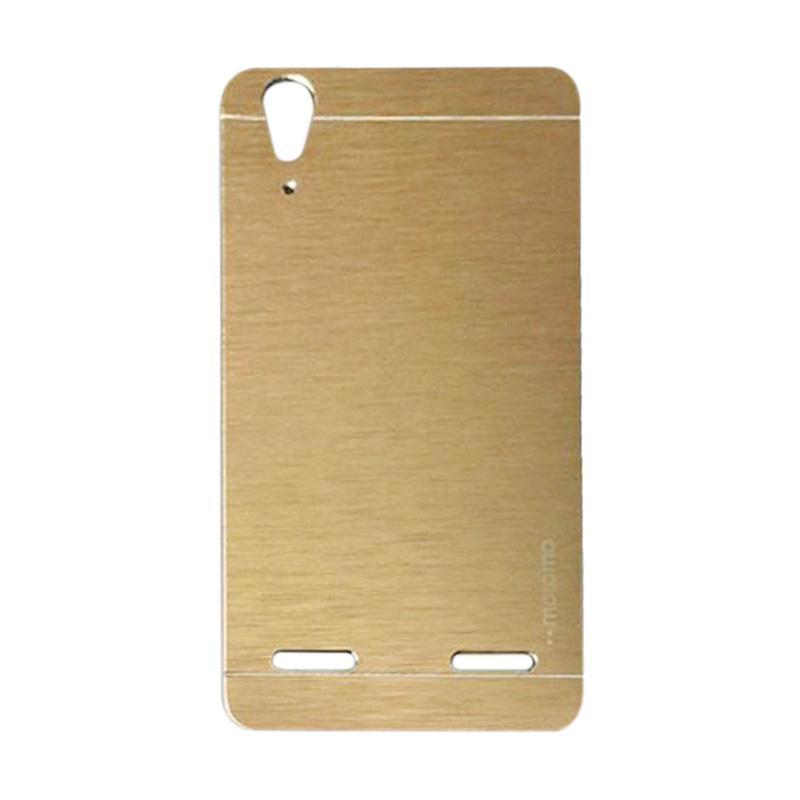 Motomo Metal Hardcase Backcase Casing for Lenovo A6010 or A6010 Plus - Gold