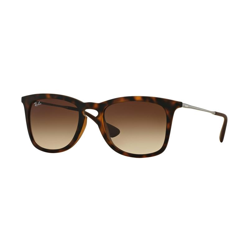 Ray-Ban RB4221F 865-13 Gradient Brown Sunglasses - Rubber Dark Havana [Size 52]
