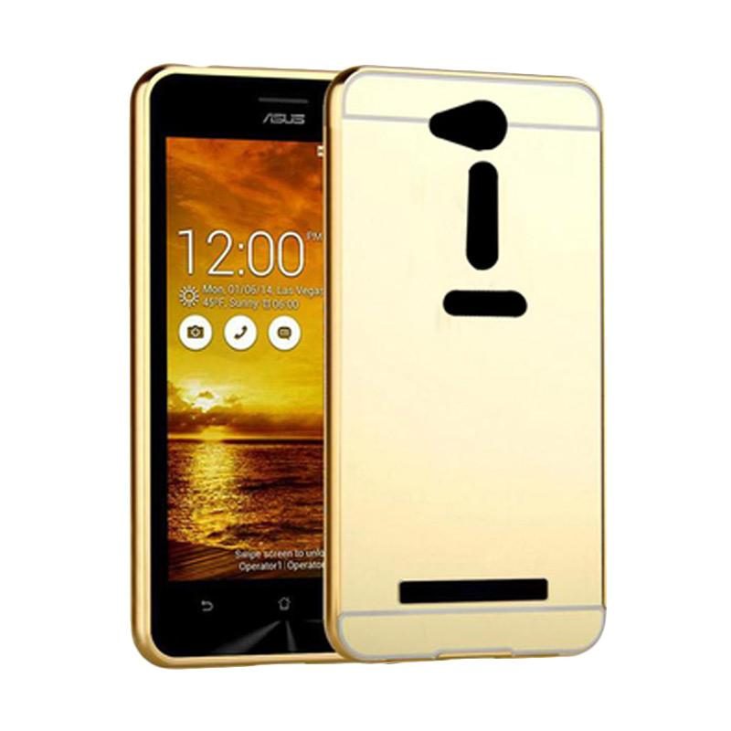 Bumper Mirror Sliding Casing for Asus Zenfone GO 5.0 Inch - Gold