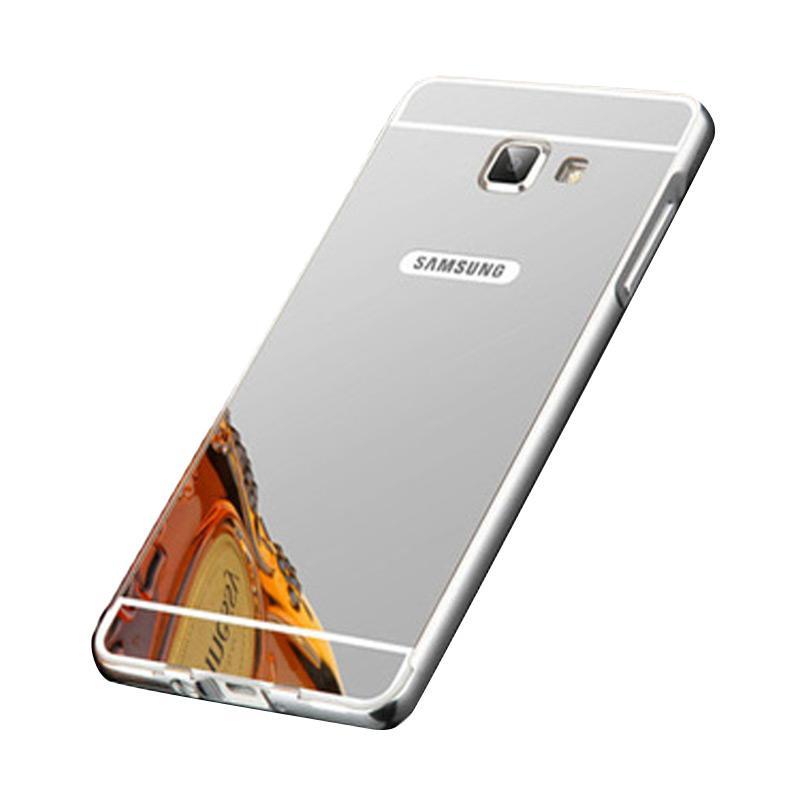 Bumper Mirror Sliding Casing for Samsung Galaxy A510 - Silver