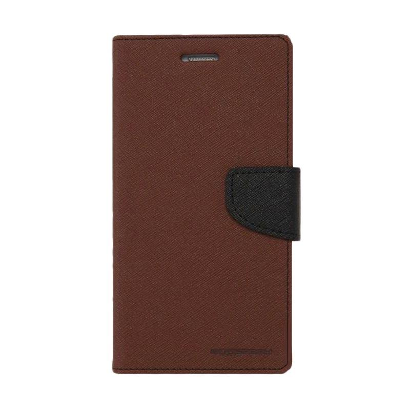 harga Mercury Fancy Diary Flip Cover Casing for Samsung Galaxy Note 3 Neo N7050 - Coklat Hitam Blibli.com