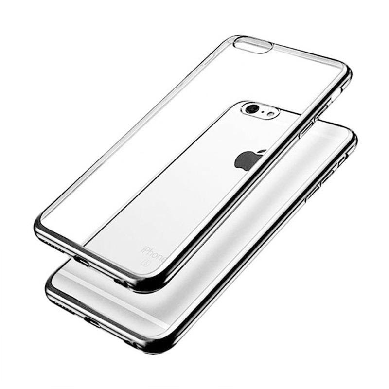 OEM Ultrathin TPU Shining Chrome Casing for iPhone 5 or 5S - Dark Grey