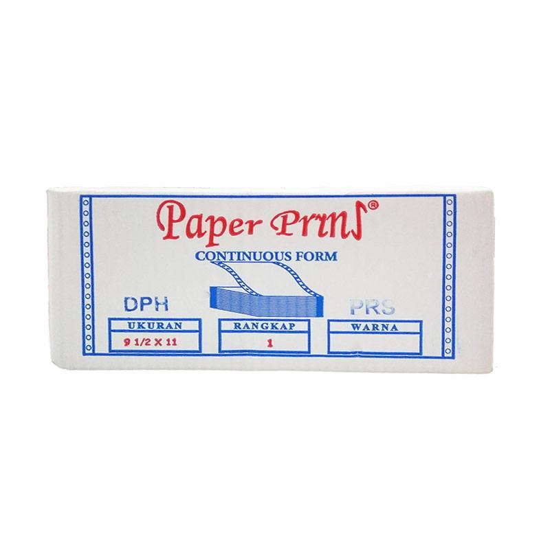 Paperpryns Continuous Form - Putih [9.5-2 x 11-2 Inch/ 1 Ply/ HVS]