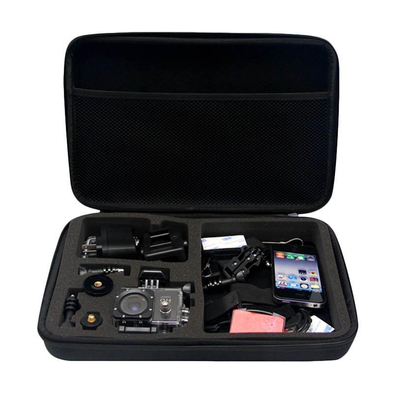 Action Cam Tas Kamera for GoPro/Brica B-PRO/Xiaomi Yi - Hitam [Size Large]
