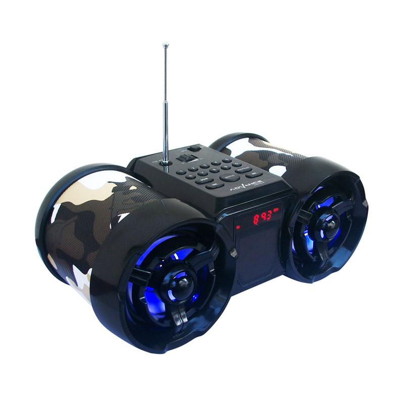 Advance TP-666 Army Speaker Portable With Antena And LED Digital - Hitam