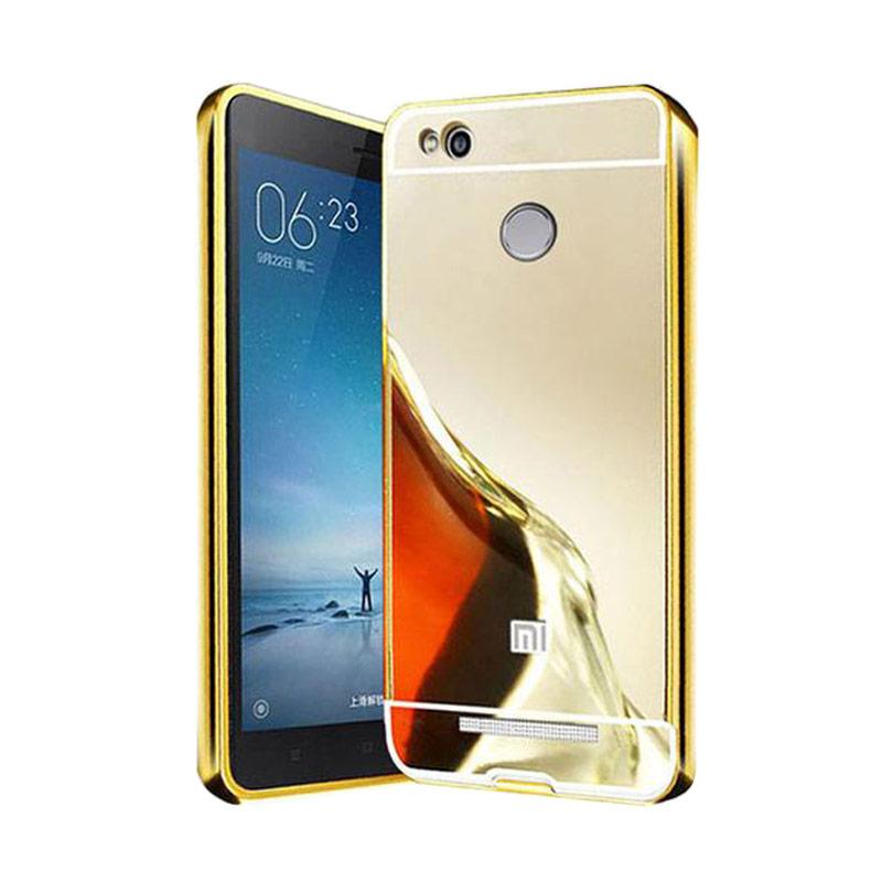 Bumper Case Mirror Sliding Casing for Xiaomi Redmi 3 PRO - Gold
