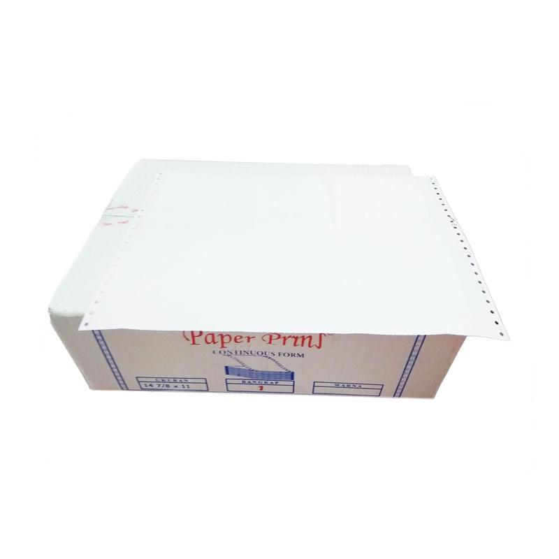 Paperpryns Continuous Form - Putih [14 7/8 x 11 Inch/ 1 Ply/ HVS]