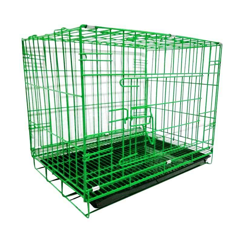 harga WYD K05 Besi Lipat Tebal p60 Kandang Kucing dan Kandang Anjing - Hijau Blibli.com