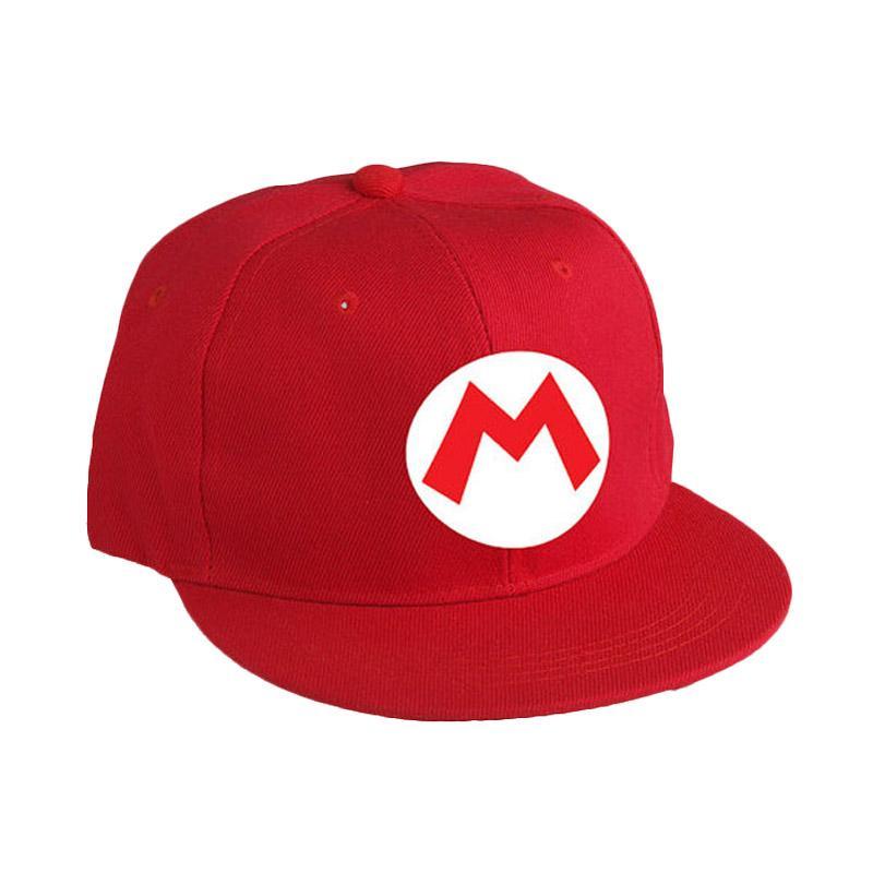 harga Jersi Clothing Super Mario Bros Snapback Topi Pria - Red Blibli.com