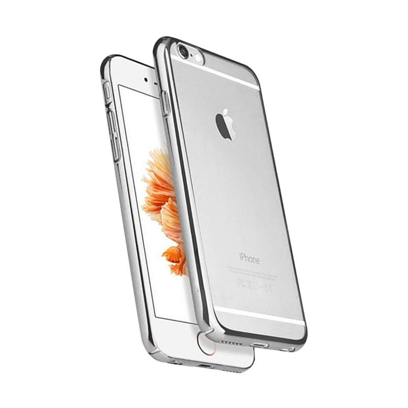OEM Ultrathin TPU Shining Chrome Casing for iPhone 6 or 6S - Dark Grey