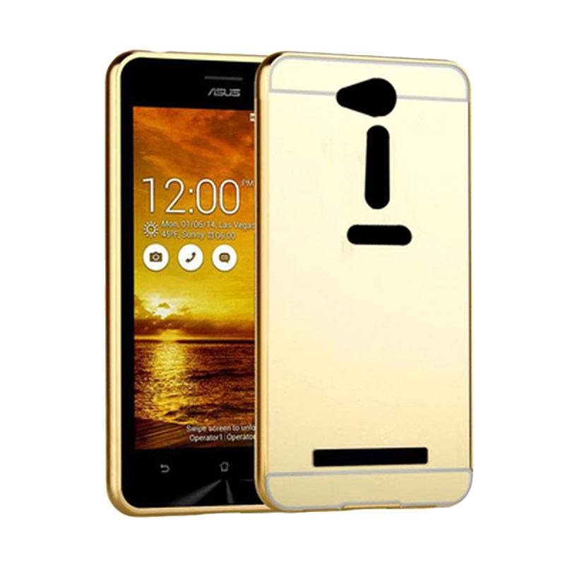 Bumper Mirror Sliding Casing for Asus Zenfone GO 4.5 Inch - Gold