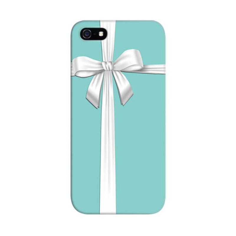 Indocustomcase Blue Tiffany Box Custom Hardcase Casing for Apple iPhone 5/5S/SE