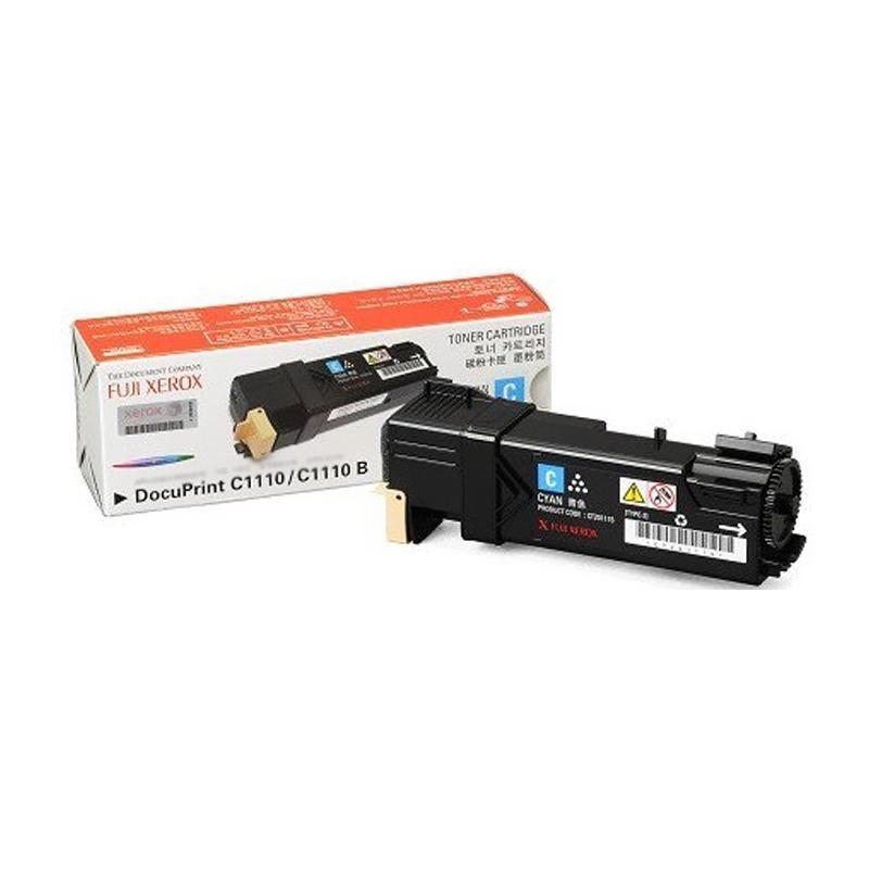 Fuji Xerox CT201115 Toner Cartridge for Printer Docuprint C1110B or C1110 - Cyan