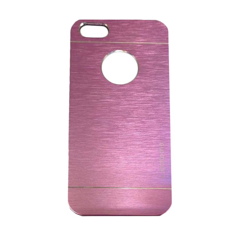 Motomo Metal Hardcase Backcase Casing for Apple iPhone 5/5G/5S/5SE - Pink