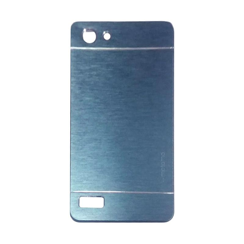 Motomo Metal Hardcase Backcase Casing for Oppo Neo 7 or A33T - Dark Blue