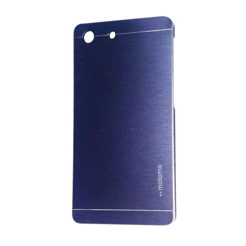 Motomo Metal Hardcase Backcase Casing for Sony Xperia M5 - Dark Blue