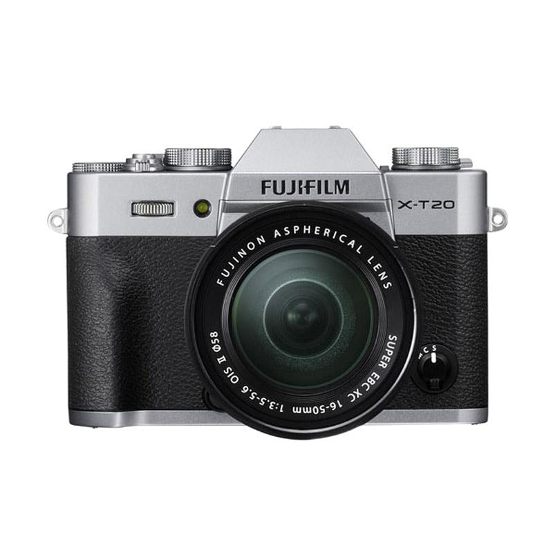 Fujifilm X-T20 Kit 16-50mm OIS II Kamera Mirrorless - Silver + Free Instax Share SP-2