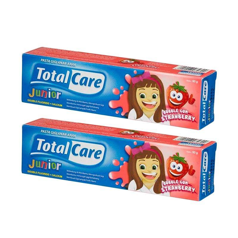 Total Care Junior Toothpaste Bubblegum Strawberry [50 g/ Isi 2]