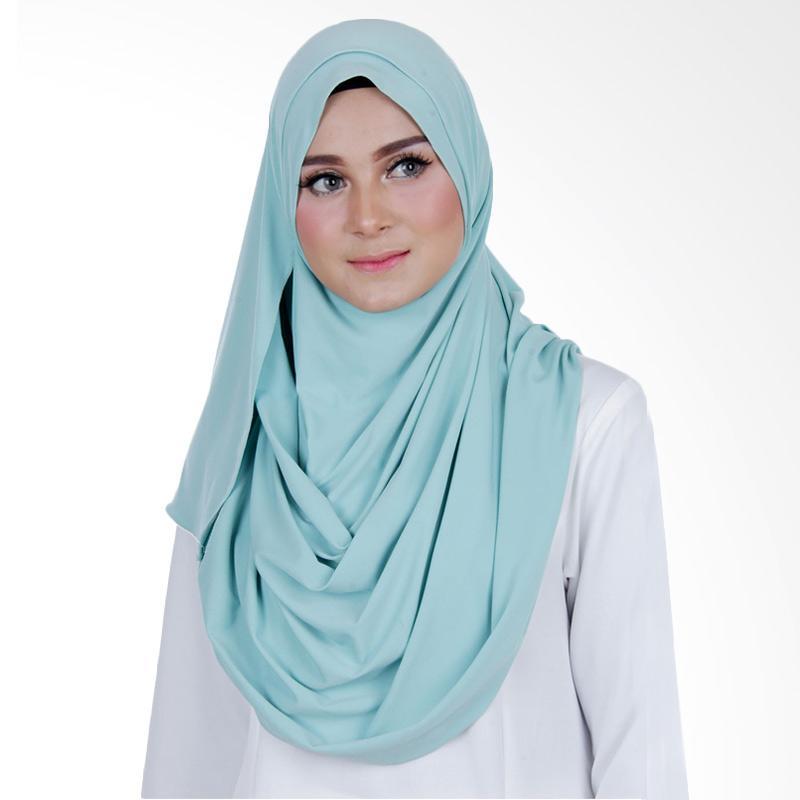 Cantik Kerudung Sheefa 2 Face Lycra Hijab Instan ��� Mint Green