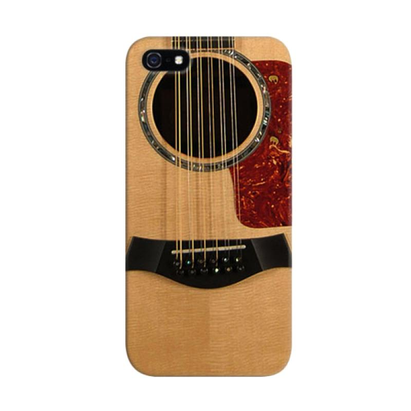 Indocustomcase Acoustic Guitar Custom Cover Hardcase Casing for Apple iPhone 5/5S/SE