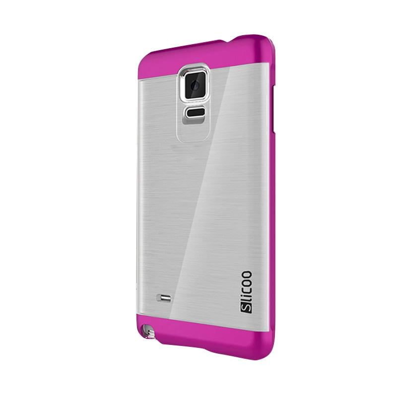 Slicoo Clear Side Cover Hardcase Casing for Samsung Galaxy Note 4 - Pink