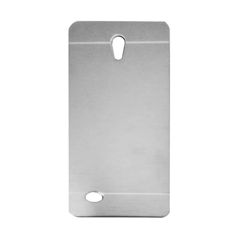 Motomo Metal Hardcase Backcase Casing for Oppo Joy 3 or A11W - Silver