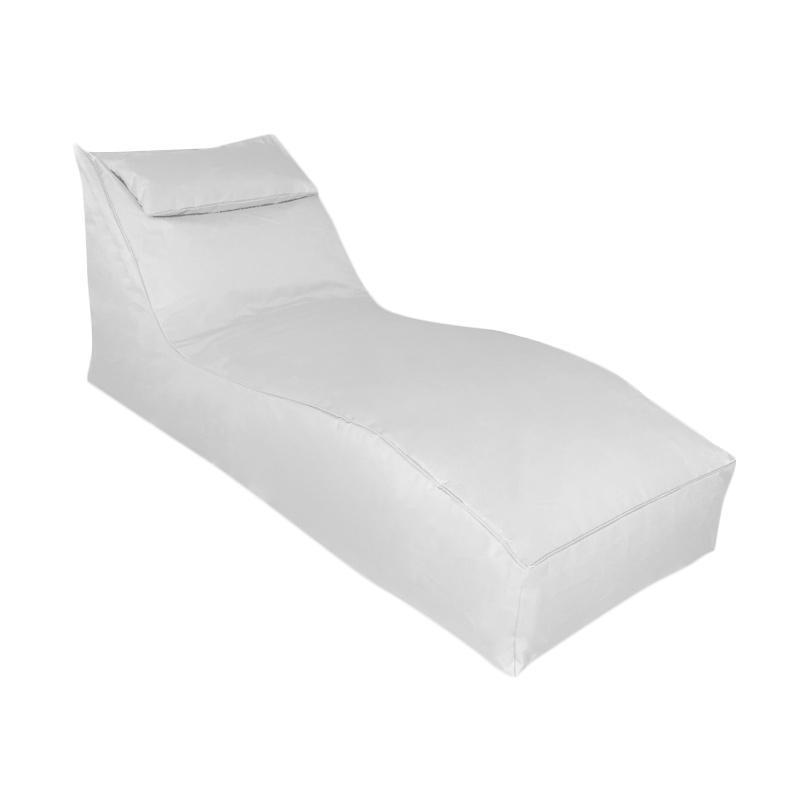 harga Prissilia Bean Bag S Lounger with Pillow Bantal Duduk - White Blibli.com