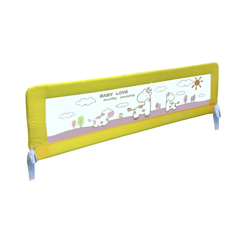 Twomother Infant Baby Bed Safety Guard Rail - Yellow Deer [150 cm]