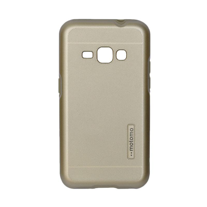 Motomo Hardcase 2 Tone Double Layers Casing for Samsung J1 2016 J120 - Gold