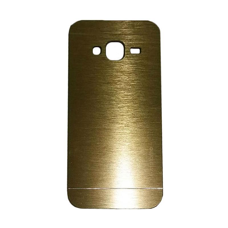 Motomo Metal Hardcase Backcase Casing for Samsung Galaxy J3 J320 2016 - Gold