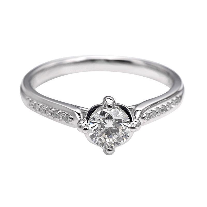 Tiaria DHTXDFJ012 Cincin Berlian emas putih [18K]